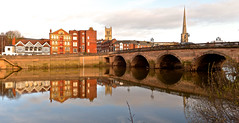 RIVERSIDE REFLECTIONS (chris .p) Tags: worcester river severn nikon d610 worcestershire england uk winter 2018 capture riversevern december water bridge city