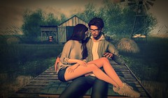 I will protect you with my life (Ix Heron) Tags: life love secondlife virtual virtualworld virtually virtualart couple couplegoals 3d 3dart encounters