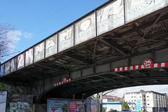 Under the bridge (frankdorgathen) Tags: alpha6000 sony1018mm city urban banal mundane ruhrpott ruhrgebiet dortmund perspective perspektive weitwinkel wideangle bluesky railwaybridge eisenbahnbrücke
