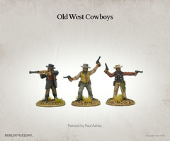 Cowboy Gunslingers - Dead Mans Hand (berlintuesday) Tags: wargames wargaming painted painter berlintuesday models miniatures tabletopgaming minifigs western oldwest deadmanshand gunslingers greatescapegames modelpainting