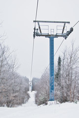 Abandoned Chair Lift (Richard Pilon) Tags: snow winter canon chairlift sainteadèle