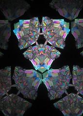 Triangular Filigree (Sea Moon) Tags: kaleidoscope polarizing polarization colors patterns triangles reflections birefringence