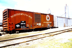 "IAIS/Council Bluffs. IA./Old boxcars never die. They just get ""repurposed"" (THE RESTLESS RAILFAN) Tags:"