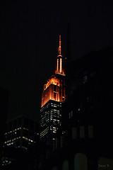In the Night Sky (Jocey K) Tags: empirestatebuilding sonydscrx100m6 triptocanadaandnewyork architecture buildings evening illumination nighttourhopandhopoffbus newyorkcity