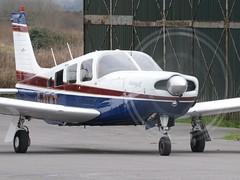 G-BKMT (goweravig) Tags: gbkmt swansea wales uk swanseaairport piper saratoga resident aircraft propblur fulldisc fullarc