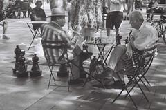 Chess (goodfella2459) Tags: nikonf65 ilfordfilm blackandwhite seattle people chess chessplayers chesspieces bwfp