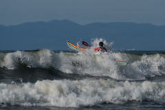 West Coast Cleanse (westcoastcaptures) Tags: kayak ocean pacific juandefuca vancouverisland waves surf surfing boat paddling mountains