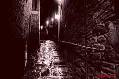 Lerwick Backstreet (red.richard) Tags: bw lane lerwick shetland lights shadow nikon d3300