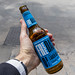 Hand holds Spanish non-alcohol Lager Beer