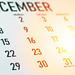 December 2019 calendar. New Year's eve