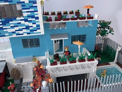Blue_House_3 (Julio C. Cedena) Tags: lego house moc afol architecture ale