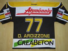 #77 Diego ARDIZZONE Game Worn Jersey (kirusgamewornjerseys) Tags: 1 liga game worn jersey ice hockey switzerland eishockey diego ardizzone ehc wetzikon ehcwetzikon diegoardizzone