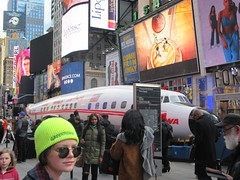 2019 Celebration of Retro TWA Hotel - Wingless Plane Times Square 4488 (Brechtbug) Tags: 2019 celebration retro twa hotel brooklyn wingless 1958 lockheed constellation connie l1649a starliner airplane visits times square before heading trans world airlines new yorks john f kennedy international airport known york anderson field commonly idlewild city march 23rd nyc 02232019