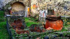 Ercolano, Italy: Public cooking area in Roman ruins at Herculaneum archaeological park (nabobswims) Tags: archaeologicalpark campania ercolano hdr herculaneum highdynamicrange ilce6000 it italia italy lightroom mirrorless nabob nabobswims photomatix romanruins sel18105g sonya6000