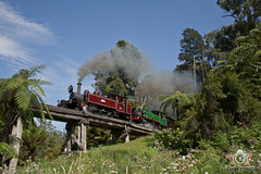 Bridging with Baldwins (R Class Productions) Tags: steam train puffing billy railway victorian railways na baldwin locomotive narrow gauge forest heritage vintage dandenongs 12a 6a