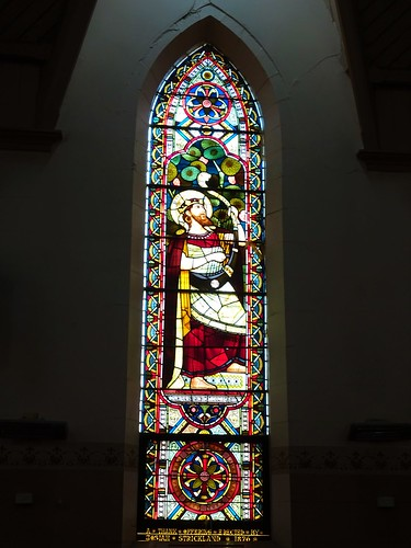 Forbes. Stained glass in the Anglican Church.