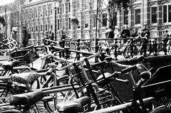 Amsterdam - Some Bikes (Michel Poirout) Tags: amsterdam bike vélo street rue kodak canon ae1
