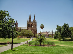 St Peter's Cathedral (Anthony Kernich Photo) Tags: adelaide sa australia southaustralia stpeterscathedral cathedral church placeofworship structure building spire landmark icon adl gothicrevival olympusem10 olympus olympusomd photography historic architecture summer lumix park green public parkland tree city adelaideparklands urban