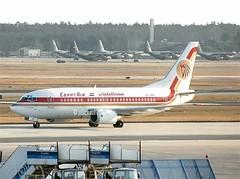 Egypt Air                                          Boeing 737                                    SU-GBK (Flame1958) Tags: egyptair egyptairb737 boeing737 b737 boeing 737 sugbk fra frankfurt frankfurtairport 220393 0393 1993 scan print