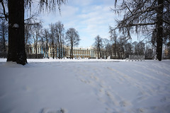 Sunny frosty day. Catherine Park. (fedoseenko) Tags: санктпетербург россия красота colour природа beauty blissful loveliness beautiful saintpetersburg sunny art shine dazzling light russia day park peace blue white голубой небо лазурный color sky pretty sun пейзаж landscape clouds view heaven mood serene golden gold colours picture road tree nature alley history trees tsar walkway field outdoors old d800 wood cupola path building architecture domes town winter snow cloud снег тропинка облака архитектура дворец здание freeze frost frosty 24120mmf3556d catherinepalace catherinepark