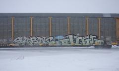 Sabot/Jigl (quiet-silence) Tags: graffiti graff freight fr8 train railroad railcar art sabot jigl ld h8u mfk autorack
