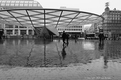 Reflection (Spotmatix) Tags: 24mm a37 belgium brussels camera effects lens monochrome places primes sony street streetphotography