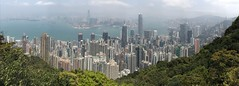 Panoramic view of Hong Kong and Victoria Harbour (procrast8) Tags: hong kong island china victoria peak mount austin harbour