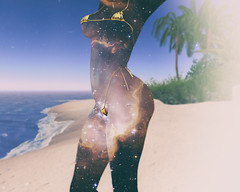 🍎  refuge. (Apple aka Ossia) Tags: boom bay second life secondlife sl blogger blogging blog photography photograph photoshop ps portrait bikini space galaxy beach palm trees sand sun unique