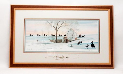 P.Buckley Moss Framed 'Silver Lake Mill' ($280.00)