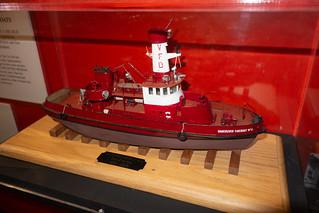 Model of an antique Vancouver Fire Department vessel