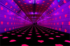 Tunnel of Love.. (leuntje) Tags: maastunnel pedestrian rotterdam netherlands valentinesday tunneloflove vollaerszwart nieuwemaas