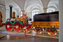 Dresden - Verkehrsmuseum, Saxonia Lokomotive (Nachbau) (www.nbfotos.de) Tags: dresden verkehrsmuseum johanneum eisenbahn saxonia lokomotive