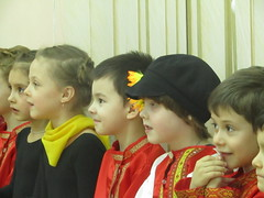 spectators (VERUSHKA4) Tags: portrait children head face junior expression canon europe moscow ville city russia kid kindergarden december show hiver winter holiday spectators costume cap emotion capture eyes mouth astoundingimage