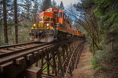 Hauler near Nashville (MRL 390) Tags: portlandwestern pw pw3001 nashville nashvilleoregon toledohauler hauler freighttrain train freight railroad railroadbridge