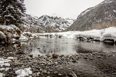 Telluride River (.enKay) Tags: telluride colorado unitedstates america mountains river water trees rocks snow winter seasons landscape canon vacation travel holiday hike hiking ice wideangle tokina 1116 nature usa sanjaunmountains rockymountains rockies