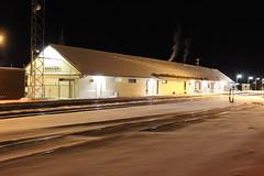 All is quiet (ujka4) Tags: shelby montana mt depot station snow night