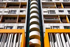 screw (bicouni) Tags: fujifilm paris xt20 xf27 architecture brutalism escalier geometric orange spiralstaircase