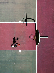 Basketball (__will) Tags: drone dji djimavic djimavicpro mavicpro aerial skysupply shadow basketball shadows