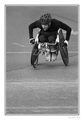 GNR Wheelchair Racer (Seven_Wishes) Tags: newcastleupontyne greatnorthrun2018 photoborder outdoor people athletes athletics sport roadrace halfmarathon wheelchairracer disabled feet man greatnorthrun canoneos5dmarkiv canonef100400mmf4556lisii mono monochrome bw blackandwhite 2018 depthoffield dof