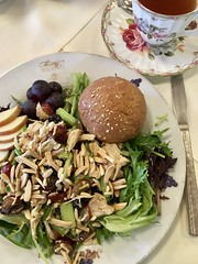 79/365: Lunch at the Tea Room (jchants) Tags: 365the2019edition 3652019 day79365 20mar19 chickensalad tea teacup plate roll project365