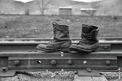 No comment ... (N.Batkhurel) Tags: season autumn railway railfan railwaytrack railroad jointbar bw blackwhite boots mongolia monrailpic ngc nikon nikondf nikkor 1520 24120mm