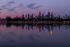 Purple Clouds (Jared Beaney) Tags: canon6d canon australia australian photography photographer travel victoria melbourne city cityscapes cityscape albertpark albertlake reflections reflection view views