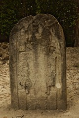 Stela 16, Tikal Ancient Mayan Site (elhawk) Tags: ancient maya mayan guatemala tikal ruler king jasawchankawiil1 stela