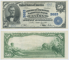 United States $50.00 (fifty dollars) national currency (SMU Libraries Digital Collections) Tags: texas money national us united states currency paper banks notes note banknote banknotes chartered bank banking dallas dallascounty