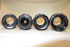 Vintage Glass 3 (siamesepuppy) Tags: pentax takumar lenses supermulticoated asahi japan ricoh rikenon 18 14 35 asahioptco autotakumar autorikenon manualfocus vintage lens rikenopticalcorp
