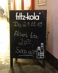 Sold out ! (gudrunfromberlin) Tags: albertlee guitars noergelbuff goettingen niedersachsen lowersaxony liveclub livemusic olliesears bengolding rossspurdle