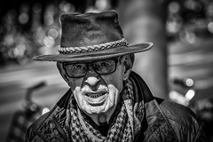 how the west was won (Gerrit-Jan Visser) Tags: amsterdam blackwhite bnw hat portrait shadow streetphotography dof cowboy face