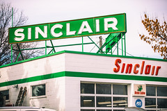 Sinclair (Thomas Hawk) Tags: america anoka minnesota sinclair sinclairgas usa unitedstates unitedstatesofamerica gasstation neon neonsign champlin us fav10 fav25 fav50