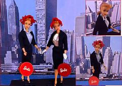 DREAM GAL (ModBarbieLover) Tags: 3 barbie ponytail blonde doll vintage mattel commuter set city suit chanel 4 repro hatbox hat toy