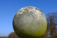 planet X (larsniel) Tags: planet x fuji x100s stone carving mould spots weathering grey green space fun